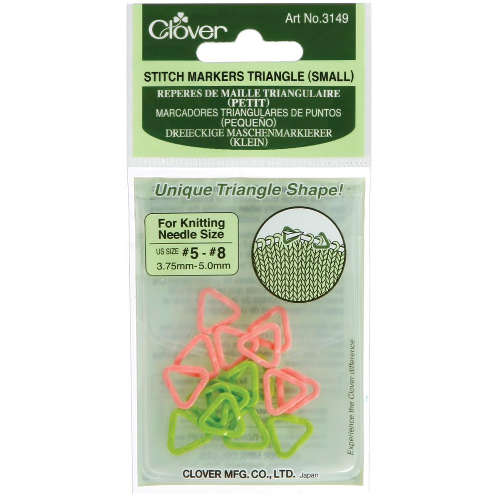 Clover Stitch Markers Triangle at Michigan Fine Yarns
