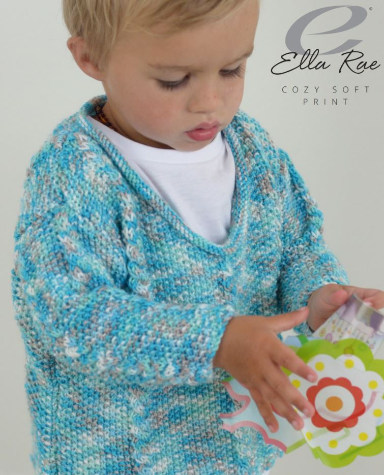 Boy's Cable & Moss Sweater PDF