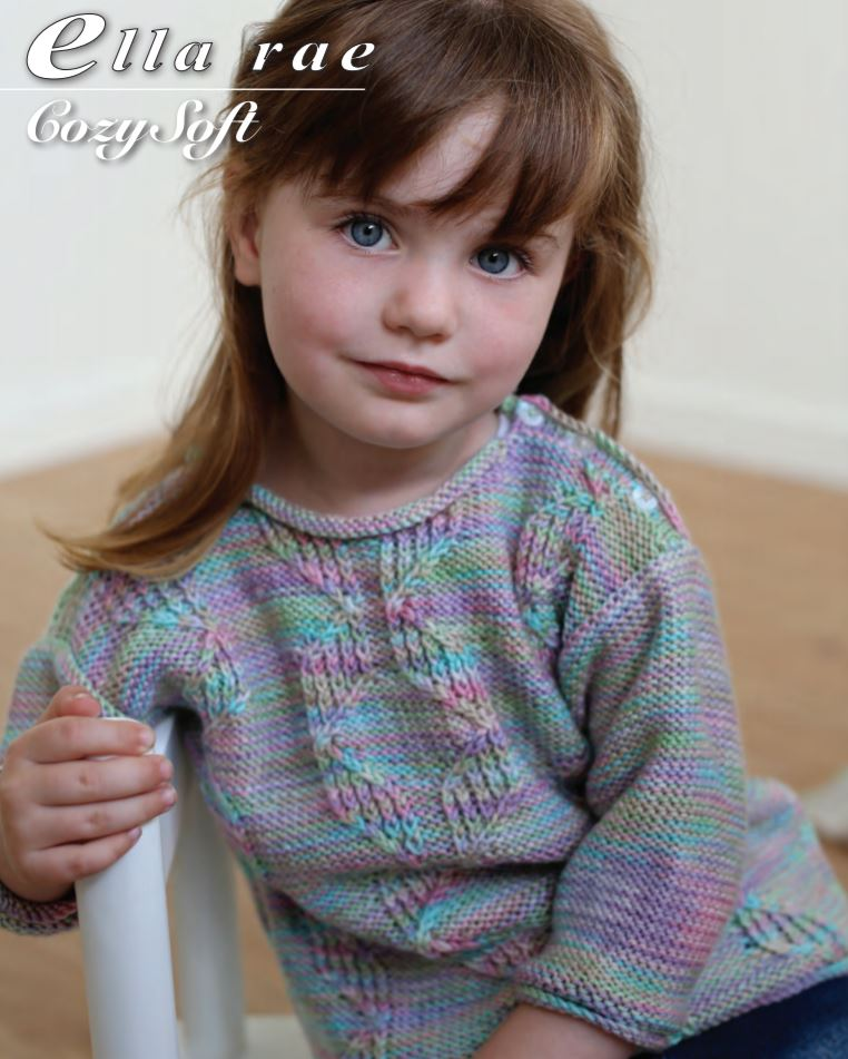 Ella Rae Cozy Soft Cable Sweater at Michigan Fine Yarns