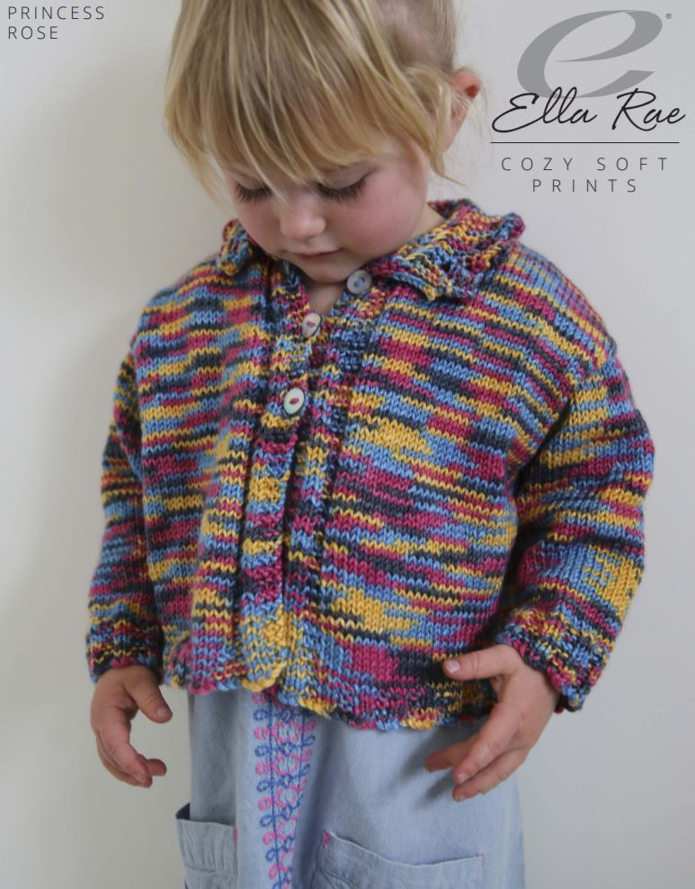 Ella Rae Princess Rose Cardigan at Michigan Fine Yarns