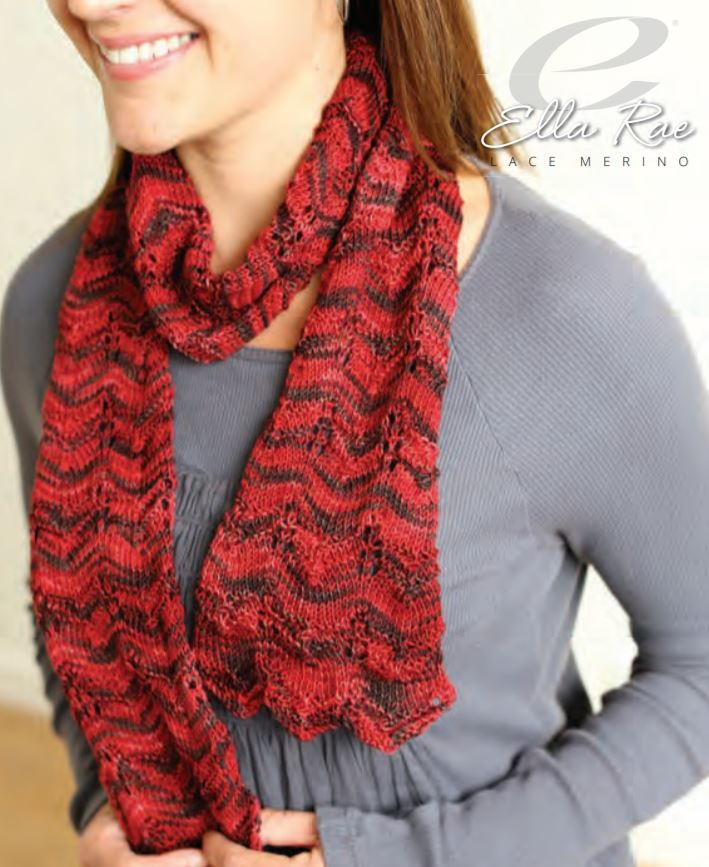 Ella Rae Wave Pattern Scarf at Michigan Fine Yarns