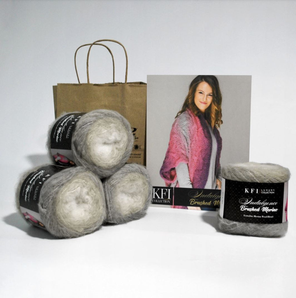 Knitting Fever Indulgence Brushed Merino Kimono Kit at Michigan Fine Yarns