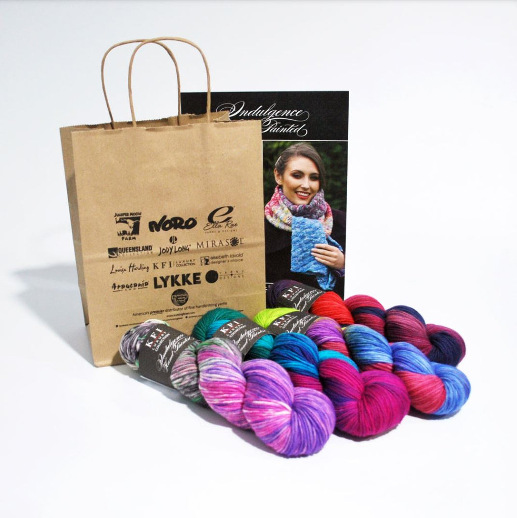KFI Collection Indulgence Hand Painted Scarf Kit at Michigan Fine Yarns