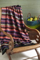 Noro Woven Stitch Blanket (feat. Taiyo/Cozy Soft Chunky) at Michigan Fine Yarns