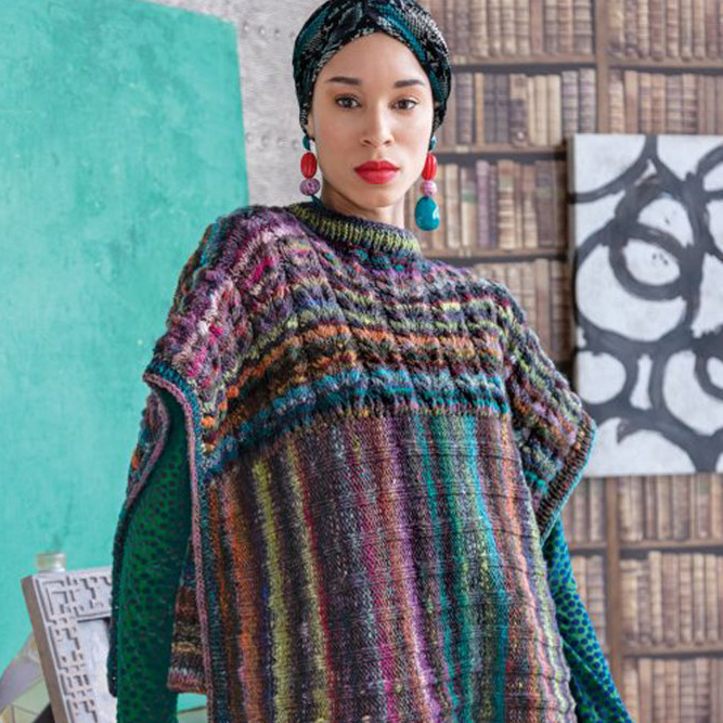 Noro Two-Direction Poncho Kit | Michigan Fine Yarns