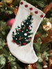 Cascade O Christmas Tree Stocking at Michigan Fine Yarns
