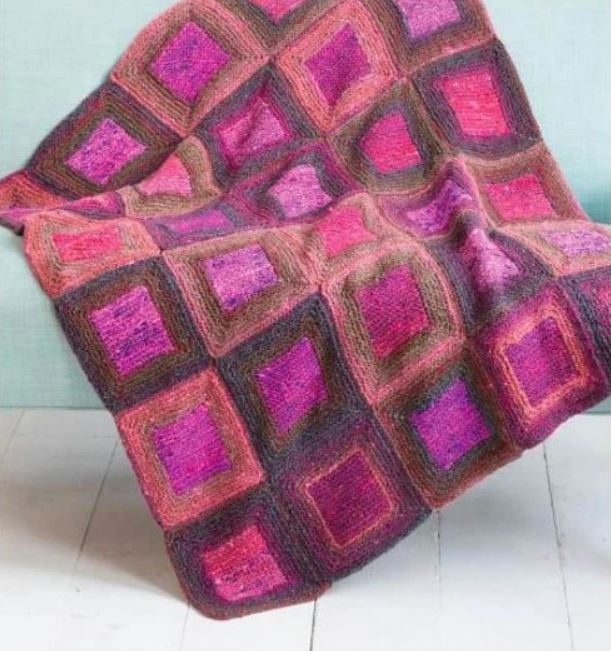 Noro Square in a Square Blanket Kit at Michigan Fine Yarns
