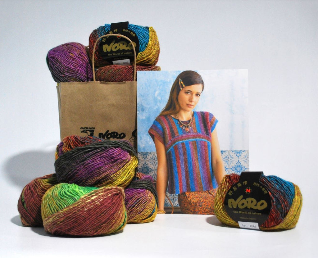 Noro Two Way Top Kit (feat. Silk Garden Lite) at Michigan Fine Yarns