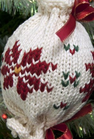Cascade Ultra Pima Poinsettia Ornament at Michigan Fine Yarns