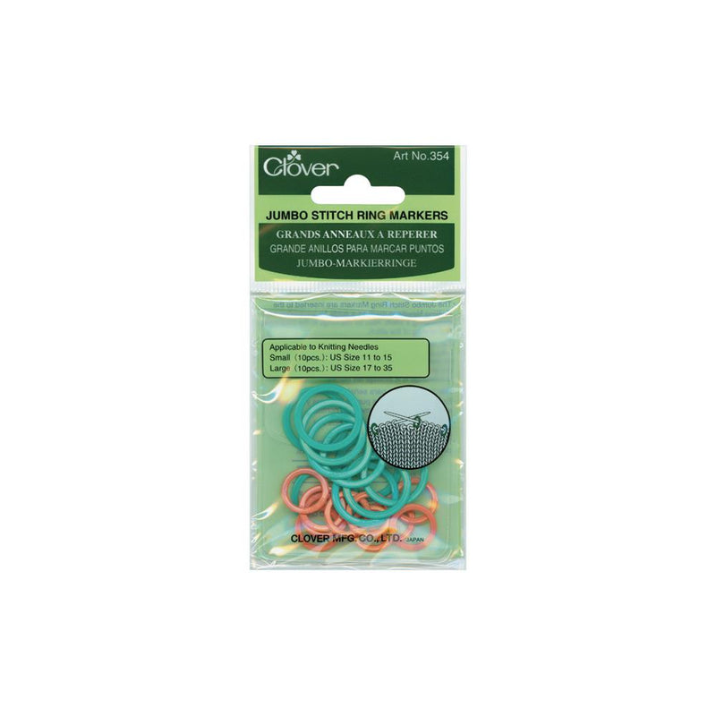 Clover Jumbo Stitch Ring Marker at Michigan Fine Yarns