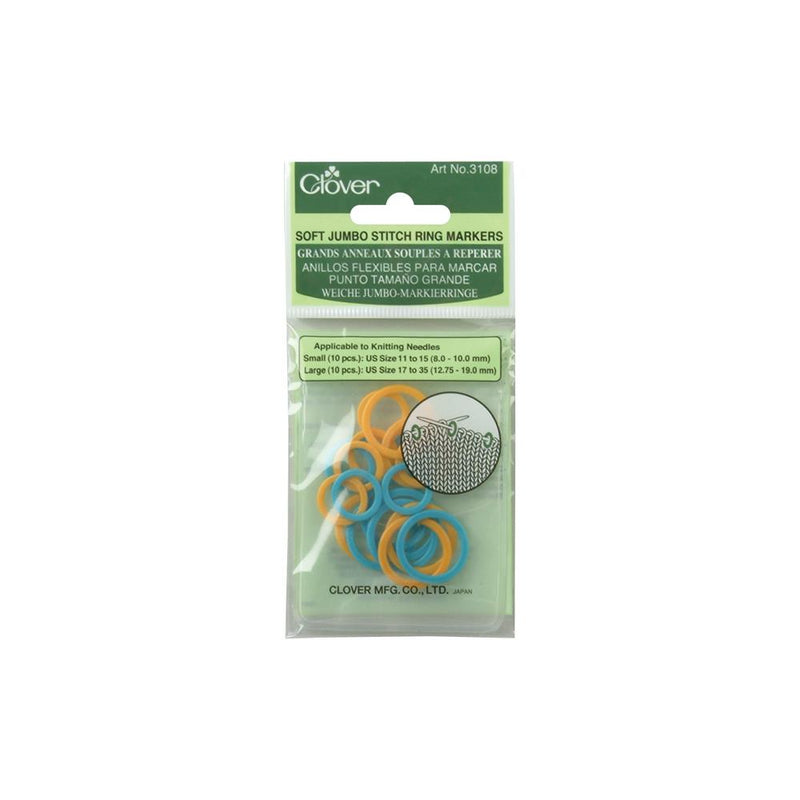 Clover Soft Stitch Jumbo Ring Markers at Michigan Fine Yarns