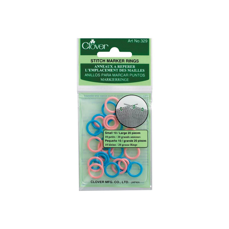 Clover Stitch Ring Markers at Michigan Fine Yarns