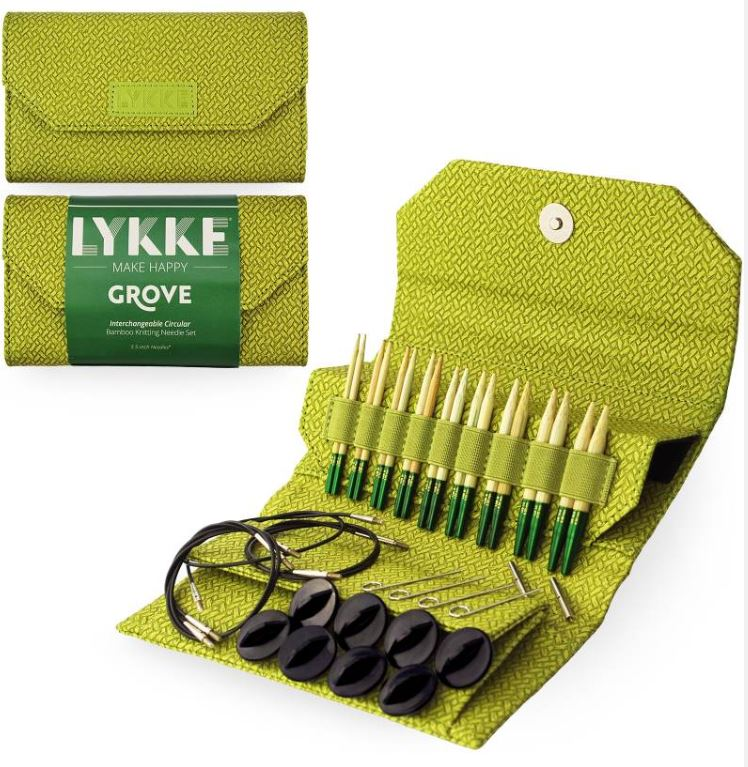 "LYKKE Grove Bamboo 5"" Interchangeable Circular Needle Set at Michigan Fine Yarns"