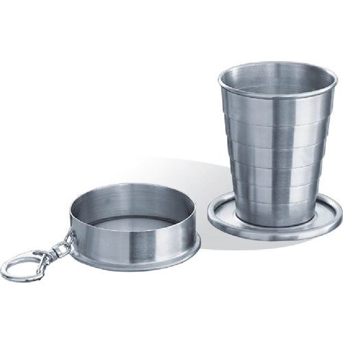 Visol Stainless Steel Telescopic 2oz Shot Cup with Key Chain