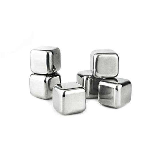 Visol Arctic 6 pc Stainless Steel Ice Cube Set