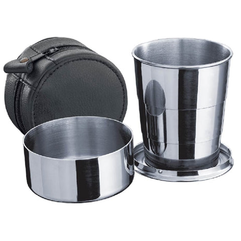Visol Large Telescopic  Shot Cup with Leather Carrying Case