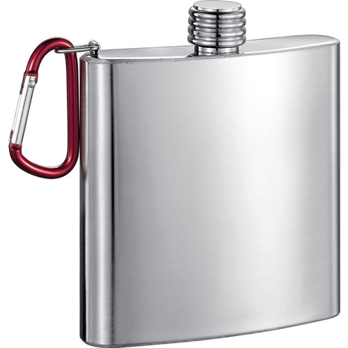 Carabiner 6 oz Stainless Steel Flask For Golf Bag