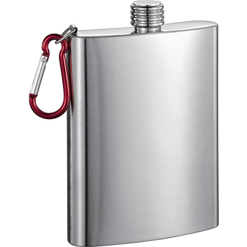 Carabiner 8 oz Stainless Steel Flask For Golf Bag