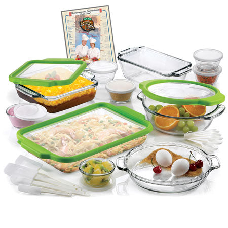 32 Pc Ovenware Set w/ TrueFit See-Thru Lids