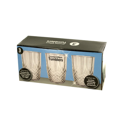 Crystal Effect Tumblers Set Case Pack 2