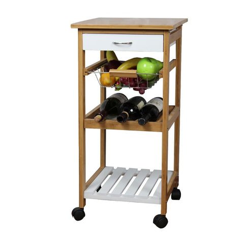 Natural White Kitchen Trolley By Urban Port