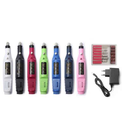 5pc Pro Electric Nail File Set