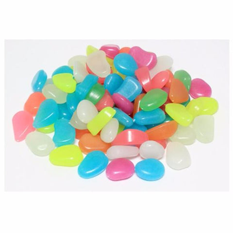 Luminous Pebbles Stones Glow in the Dark  100pcs