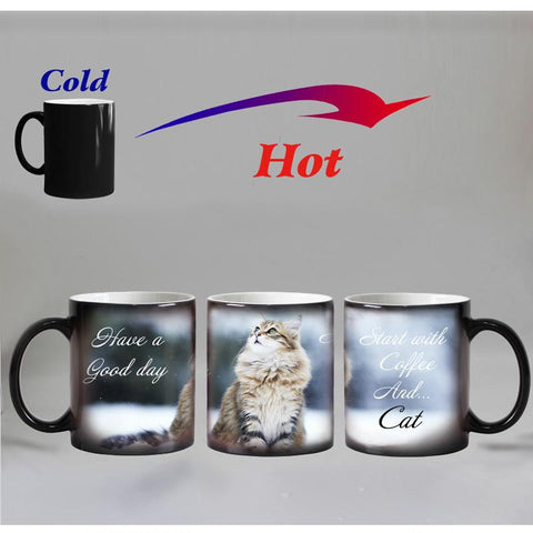 3D Lighting Cat Color Changing Mug