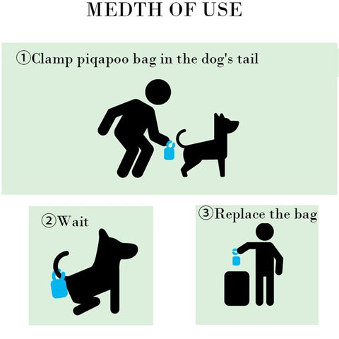 Pets Waste Poop Bag With Tail Clip