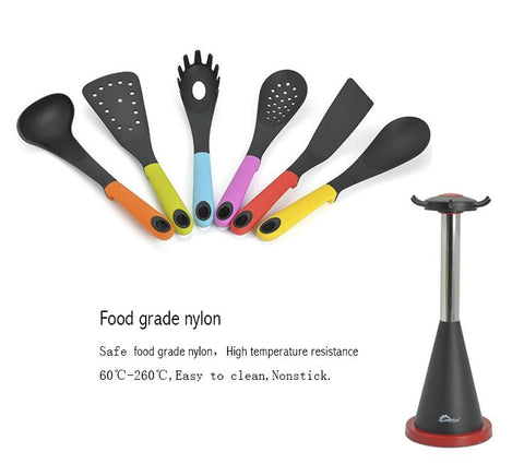 7 pcs Carousel Kitchen Utensil Tool Set