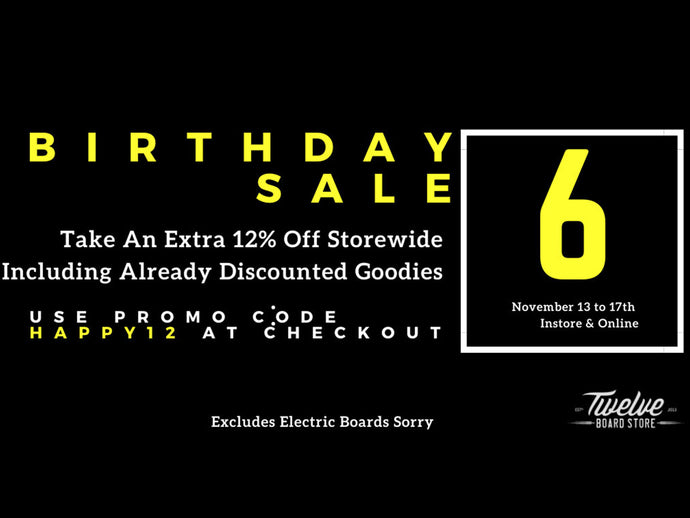 Extra 12% Off This Week For Our 6th Birthday Sale