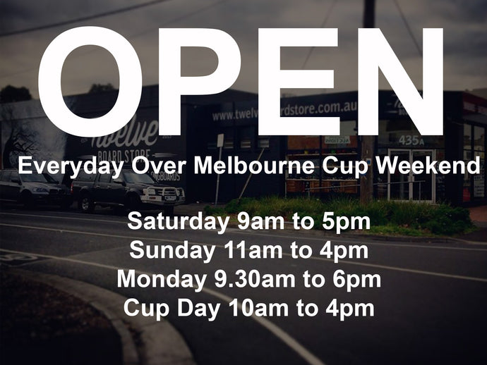 Open Everyday Over Melbourne Cup Weekend
