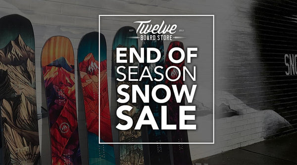End Of Season Snow Sale Starts Now