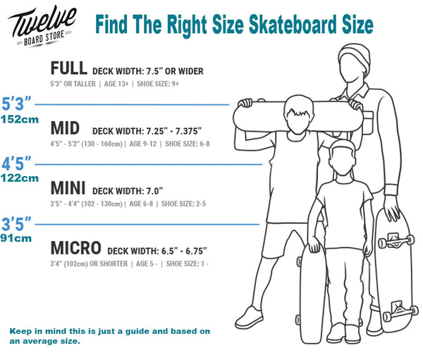 Skateboard Size Guide