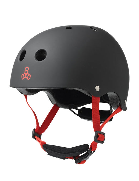 Triple 8 Lil 8 Cert Youth Helmet | Black Rubber