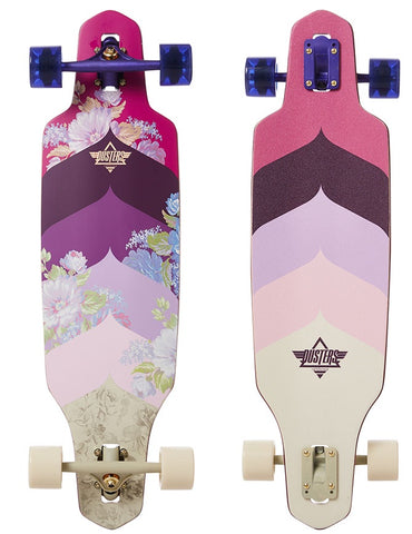 Dusters Wake Bloom Longboard Purple | 34.0""