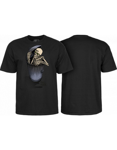 Powell Garbage Can Skelly Tee Black
