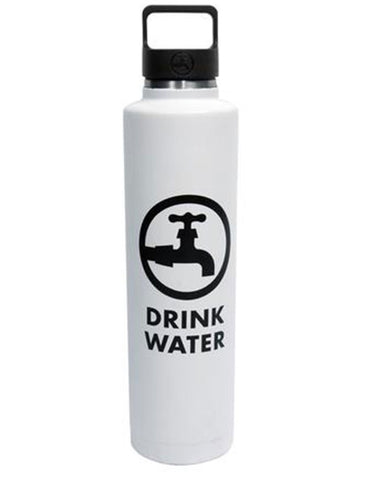 Drink Water 24oz Insulated Bottle White