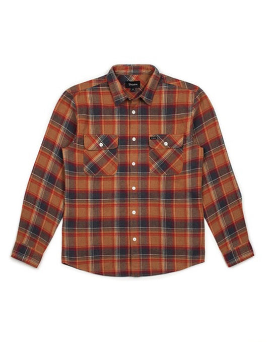 Brixton Bowery LS Flannel | Navy/Copper