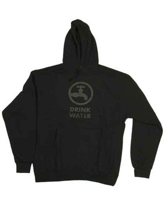 Drink Water Original Sweatshirt Black / Black logo