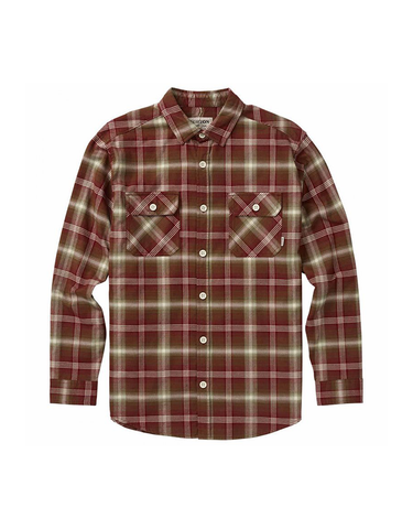 Burton Brighton Flannel Sparrow Pine Plaid