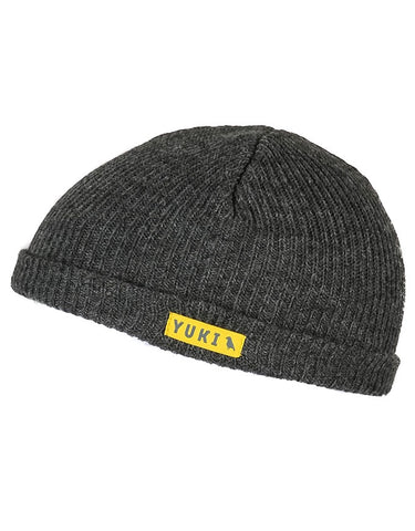 Yuki Threads Fishermans Beanie | Charcoal Melange