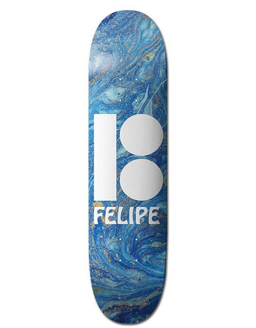 Plan B Felipe Wavy Black Ice Deck | 8.0""