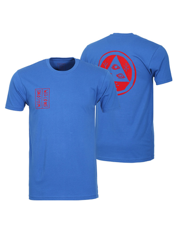 Welcome Talisman Flocked Tee Royal/Red