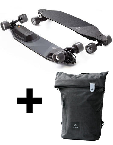 Boosted Stealth Electric Skateboard + Backpack