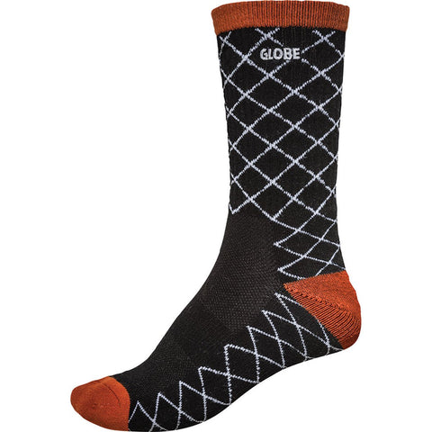 Globe Motion Crew Sock Sonic Black