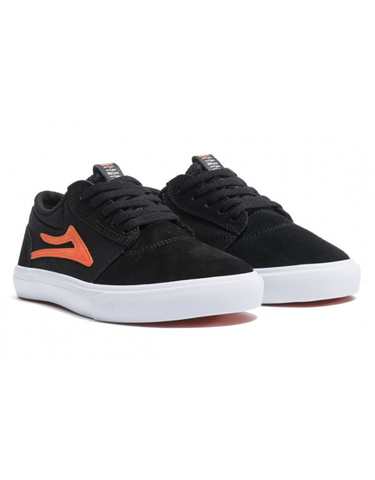 Lakai Griffin Kids Shoe Black/Orange Suede