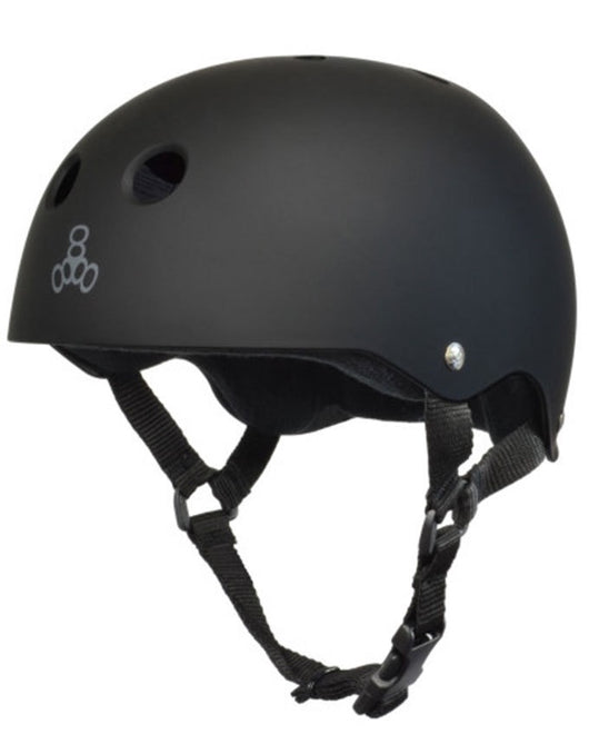 Triple 8 Cert SS Helmet | Black Rubber