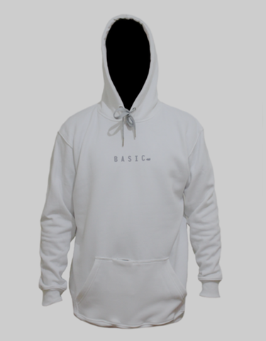 Basic Supply Co Minimal Hoodie White