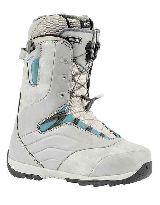 Nitro Crown TLS Snowboard Boot 2020 | Grey/Steel/Blue